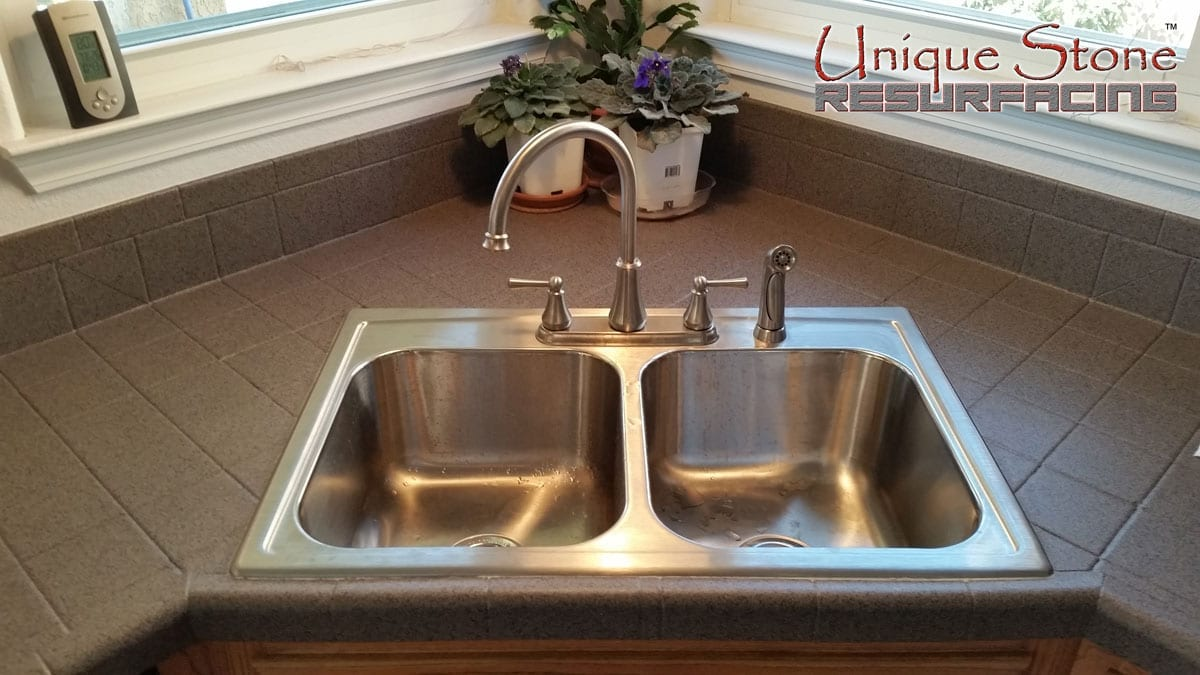 Kitchen Tile Countertops • Unique Stone Resurfacing